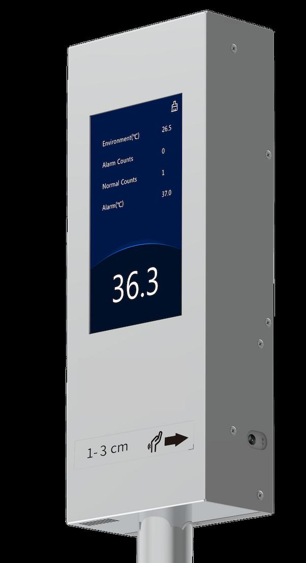 Medidor vertical de temperatura