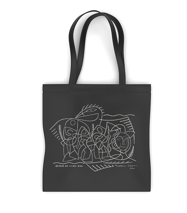 'Peace Be With You' Canvas Tote Bag