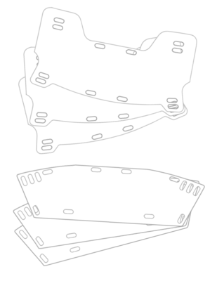 Football Helmet Face Shields - 1 set