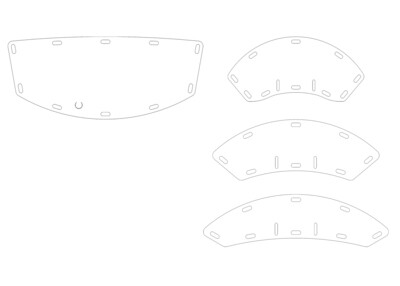 Hockey Helmet Face Shields for Cage-Style Helmets - 1 set