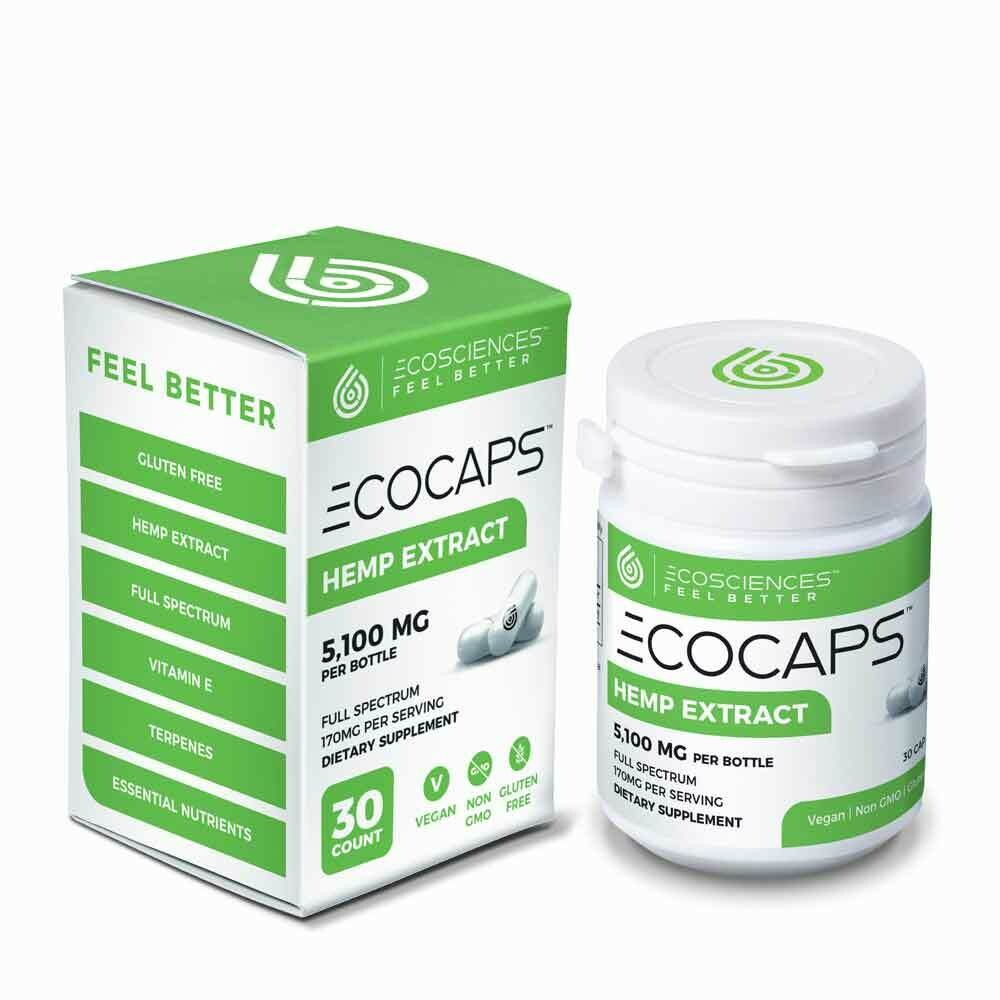Eco Sciences ECOCAPS - 900mg CBD Total