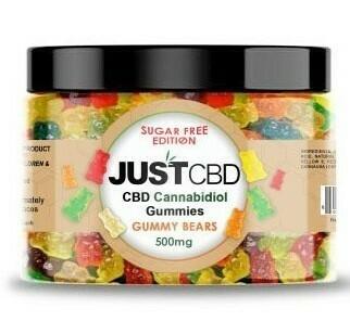 JustCBD Sugar Free Gummy Bears (500mg & 1000mg)