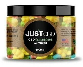JustCBD Sour Gummy Bears (500mg & 1000mg)