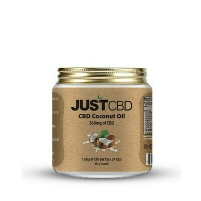 JustCBD Coconut Oil 4oz (360mg)