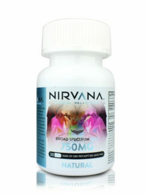 Nirvana CBD Soft Gels - 750mg