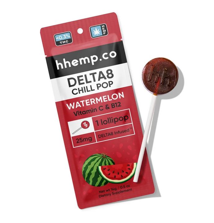 HHemp Delta 8 Lollipop - Watermelon - 25mg