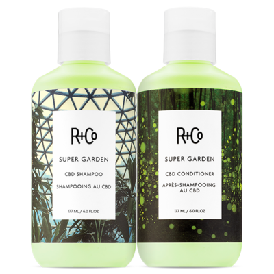 SUPER GARDEN CBD Shampoo + Conditioner Set