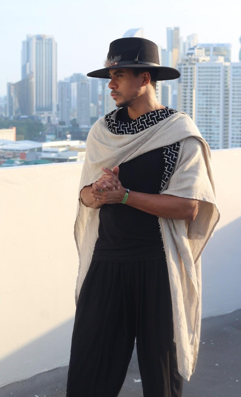 The Harem Kimono - Black Trims