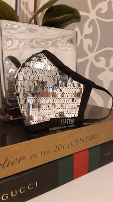 Luxury Sequin Mask - Silver