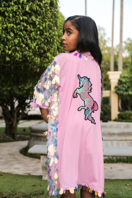 Pink Fantasy Unicorn Kimono by Festivo Kimonos