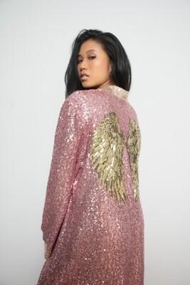 Kimono Emperatriz - Empress Kimono - Pink Sequin Kimono
