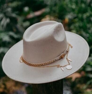 Bohemian Fedora Hat - Off White