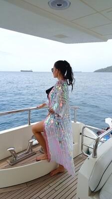 Mermaid Sequin Kimono