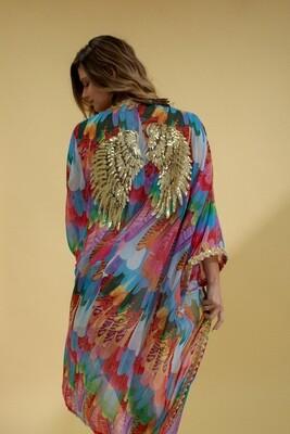 The Golden Winged Kimono by Festivo Kimonos