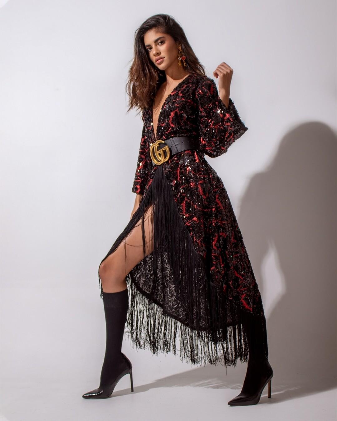 Boho Sequin Kimono