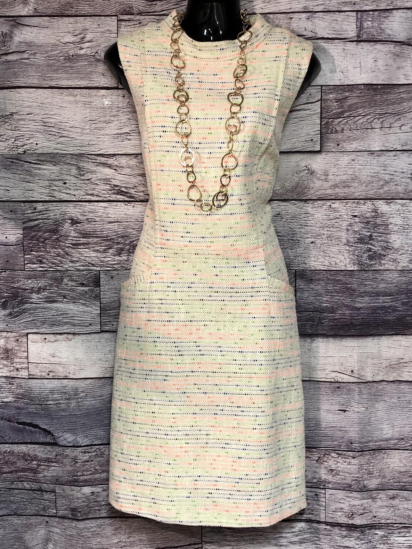 Nordstrom HALOGEN Vintage Style Woven Brocade Shift Dress size 14