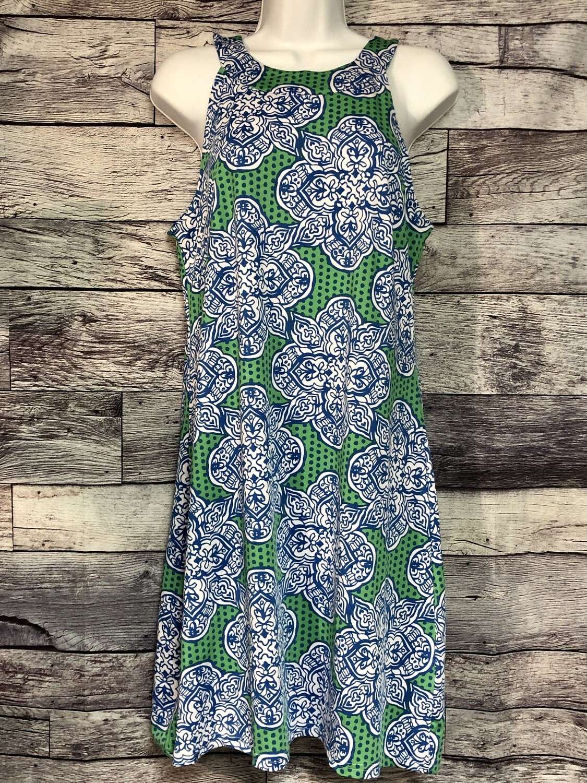 BUCKHEAD BETTIES Green & Blue Design Dress size Large