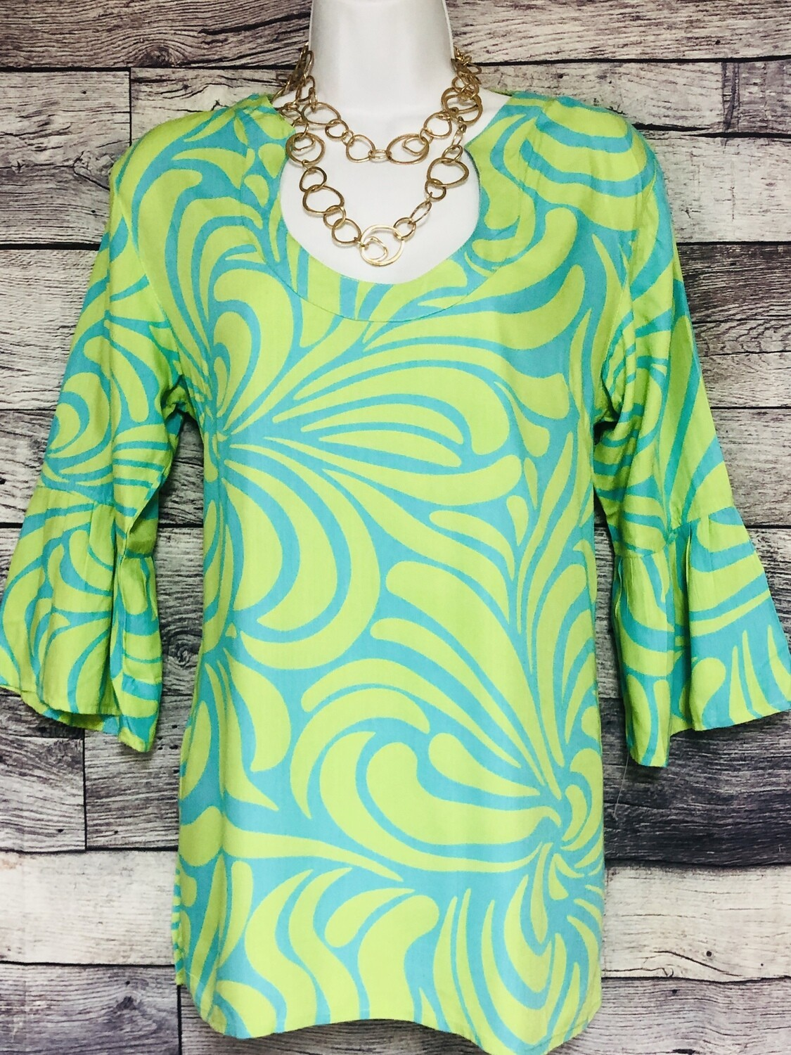 ESCAPADA Rayon Printed Tunic Blouse size Small