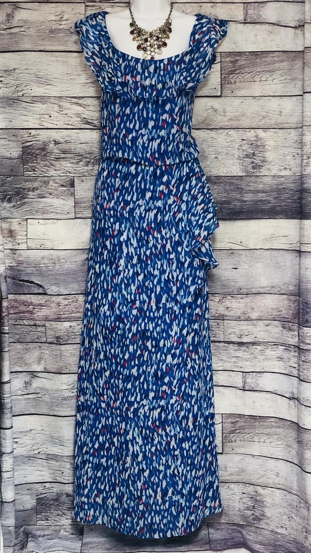 Nine West Blue Speckled Long Dress size 16