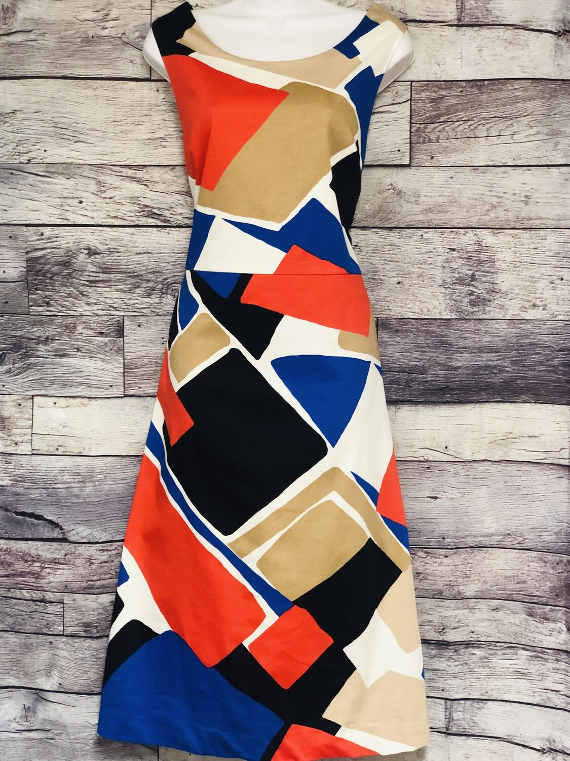 THE LIMITED Deconstructed Geometric A Line Dress size 14