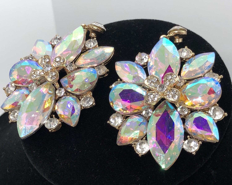 Extreme Rhinestone Pierced Dangle Statement Earrings
