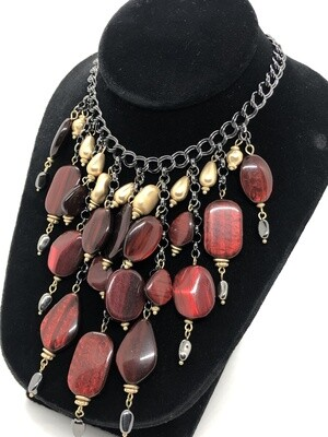 New CHICOS Multi Hanging Bead Statement Necklace