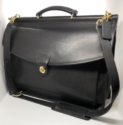 COACH Legacy Beekman Black Leather Briefcase for Work or Travel