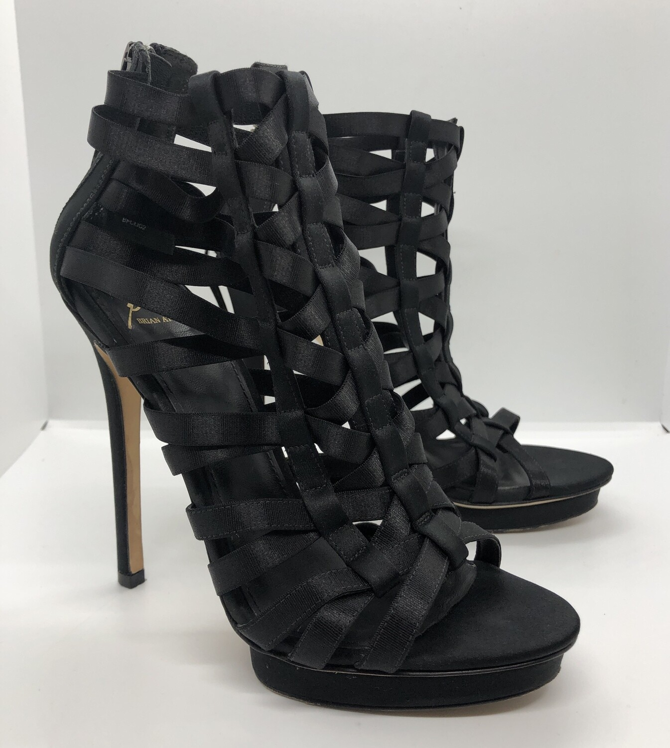 BRIAN ATWOOD Ribbon Stilletto Bootie Heels size 6 1/2