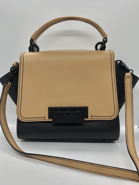 ZAC POSEN Eartha 2-Tone Leather Satchel Handbag