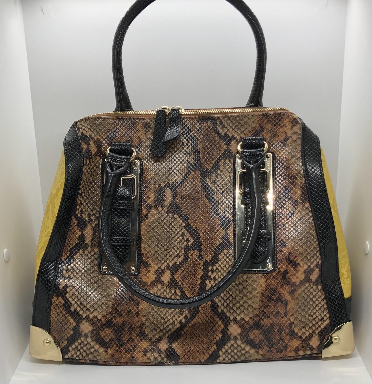 ALDO Tri Color Reptile Satchel Handbag