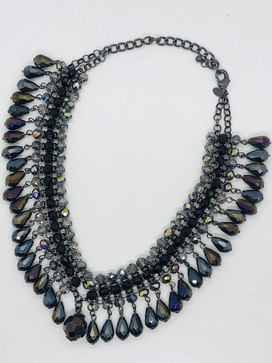 CHICOS Glass Bead & Crystal Statement Necklace