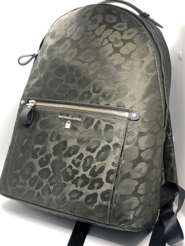 "NEW MICHAEL KORS ""Kelsey"" Olive Animal Print Backpack $178"