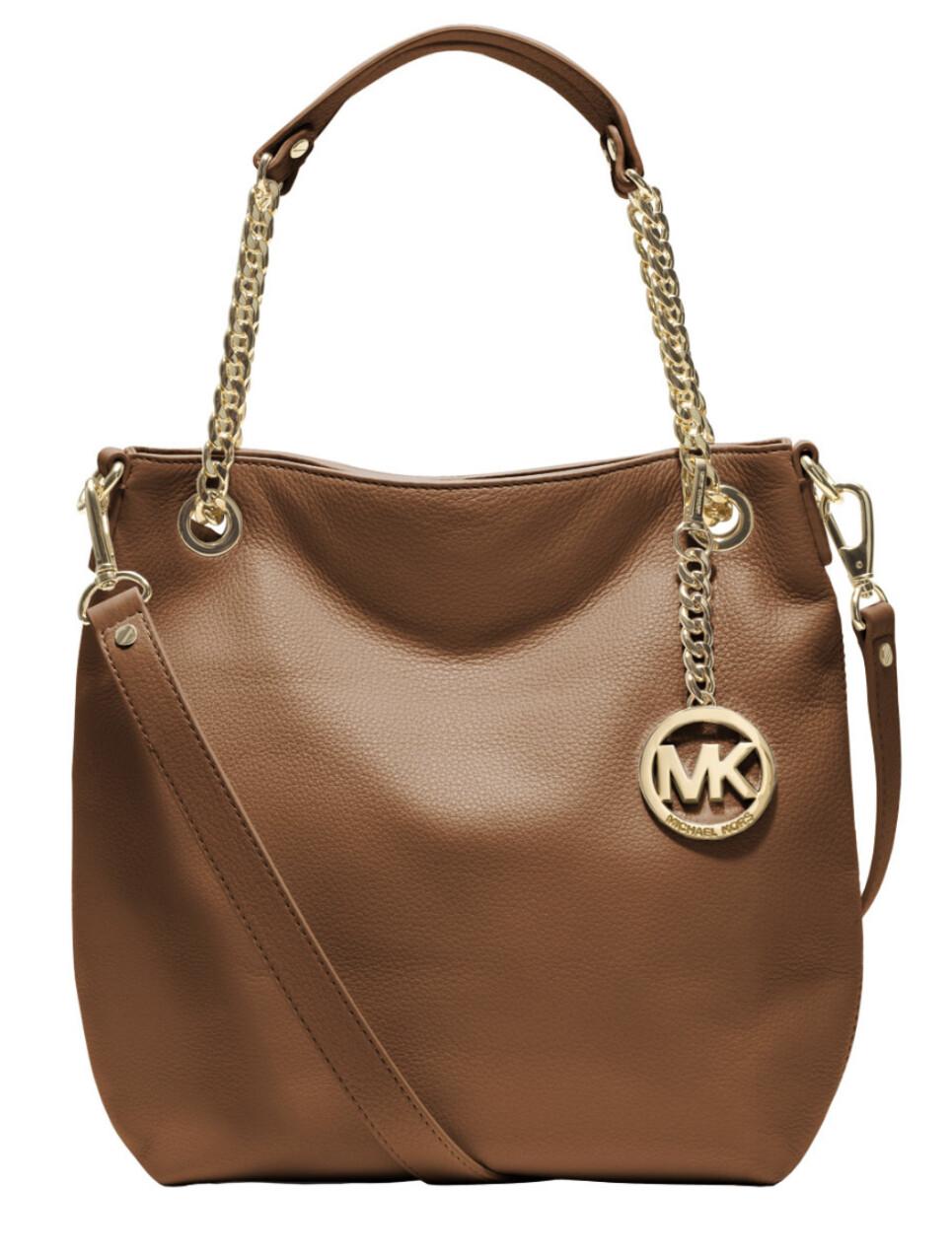 MICHAEL KORS Tan Pebble Leather Jet Set Leather CrossBody / Shoulder Bag