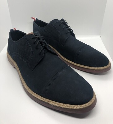 New Mens BEN SHERMAN Navy Suede Cap Toe Lace-Up Suede Buck Shoes size 12