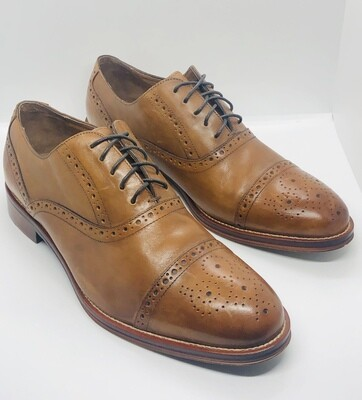 JOHNSTON & MURPHY Captoe Oxford Wingtip Lace-Up Shoes 11 Wide