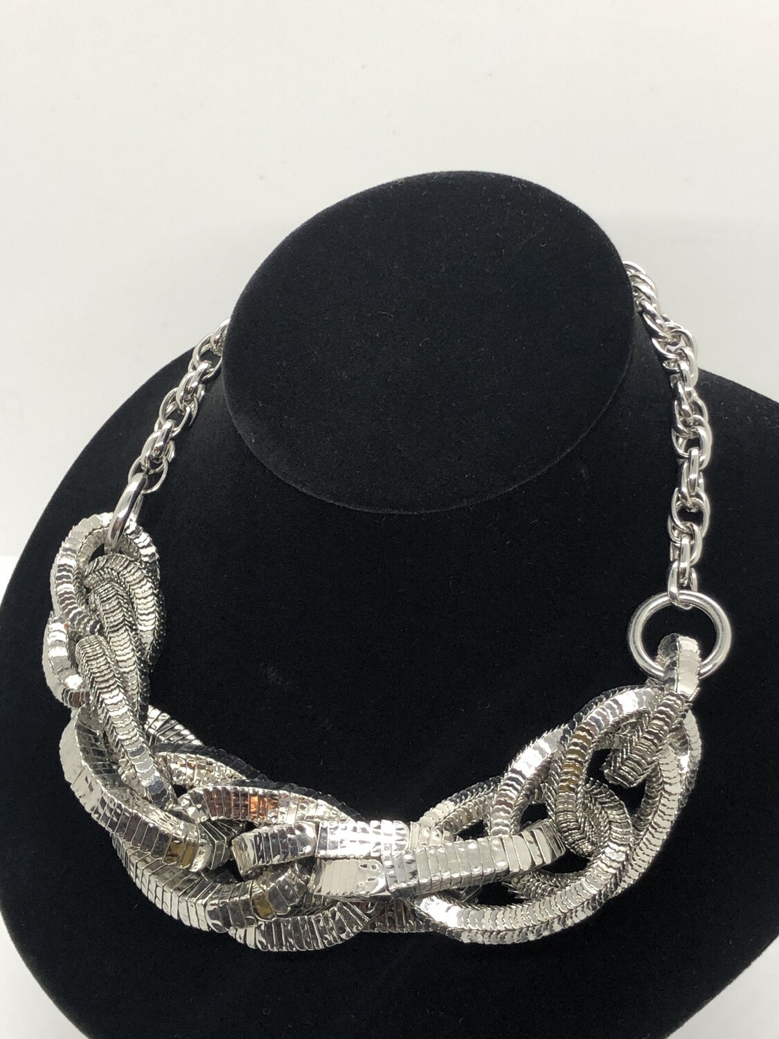 BANANA REPUBLIC Large Silver Link Statement Necklace
