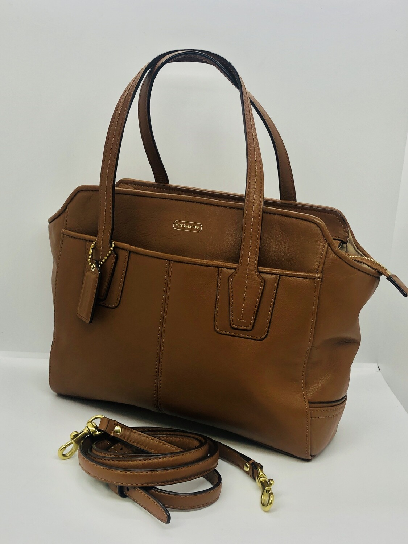COACH Taylor Brown Leather Bette Mini Tote Handbag Crossbody F27661