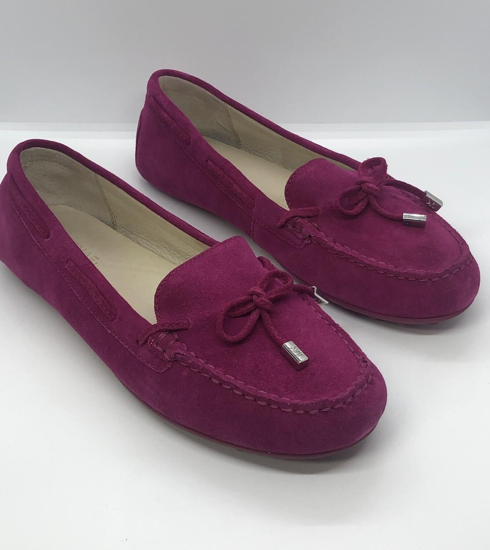 MICHAEL KORS Fushia Suede Daisy Mocassin Shoes size 8 1/2