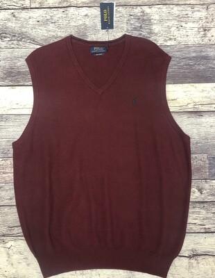 New Mens POLO Ralph Lauren Pima Cotton Sweater Vest XL $89.50