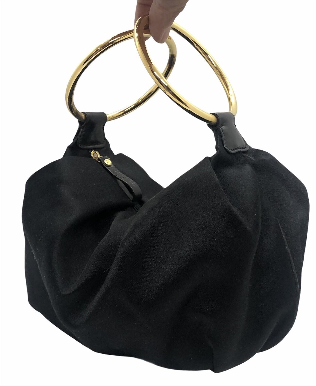 Vintage KATE SPADE Black Silk Evening Bag