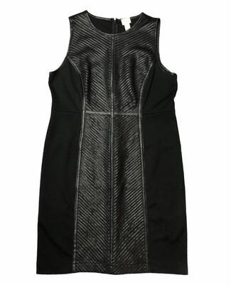 CHICOS Faux Leather Sleeveless Dress size 2.5 US 12/14