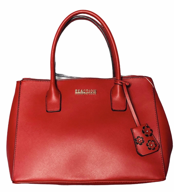 New KENNETH COLE Reaction Saffiano Leather Satchel Handbag