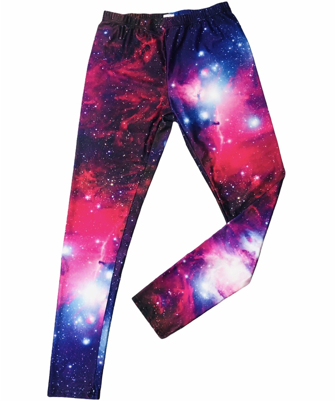 "Ladies ""Galaxy"" Theme Spandex Leggings size Medium"