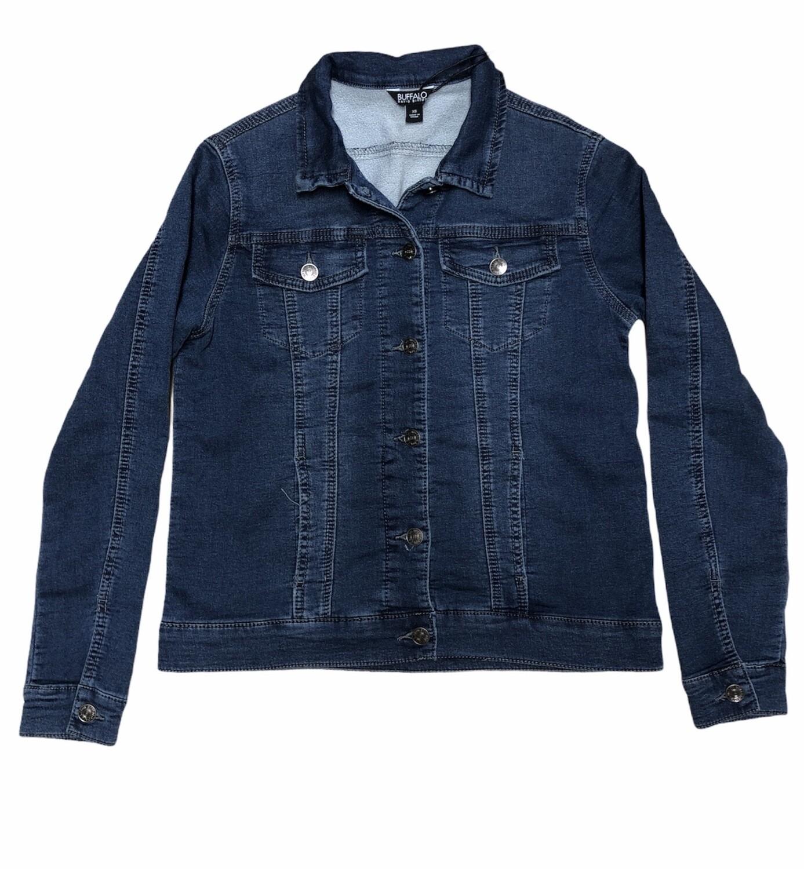 New BUFFALO JEANS David Bitton Knit Denim Stretch Jacket size XS
