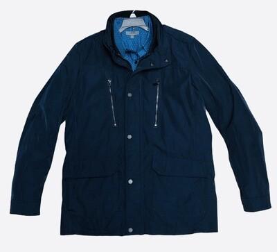 Mens MICHAEL KORS Navy Blue Micro Fiber Coat size Large