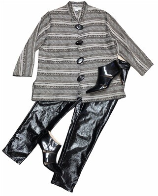 CAROLINE ROSE Metallic Tapestry Jacket size Medium