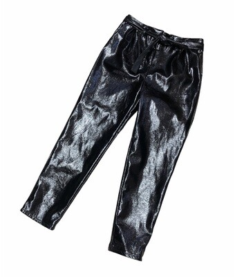 WHO WHAT WEAR Black Patent Pants size 2