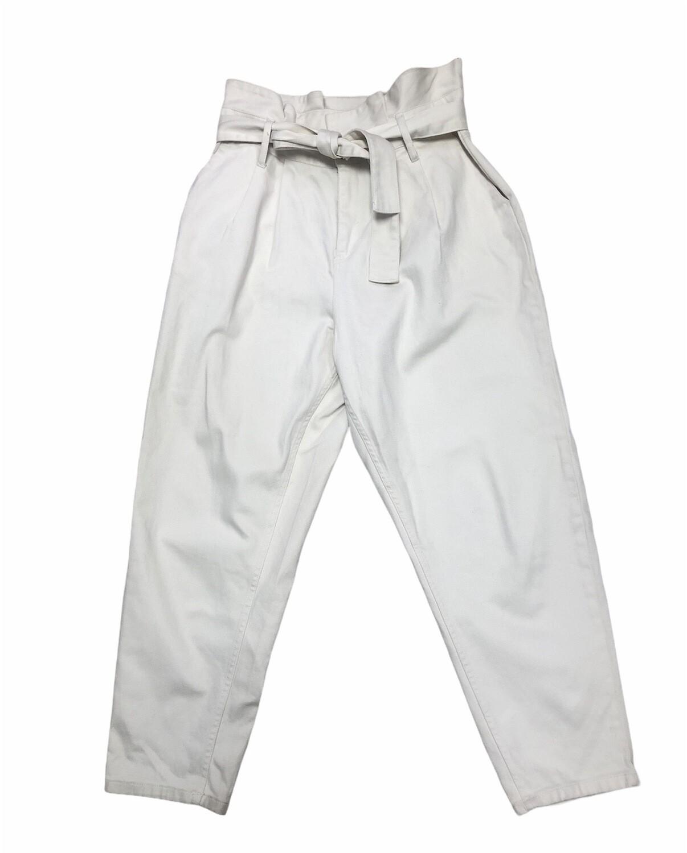 WHO WHAT WEAR Cream Hi-Waist Denim Pants size 12