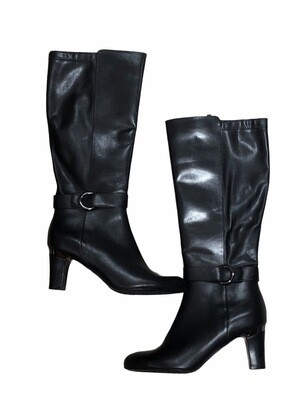 NEW BLONDO Black Aqua Protect Tall Leather Boots size 8 1/2