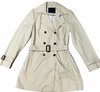 ZARA 3/4 Length Double Breast Khaki Jacket size Large